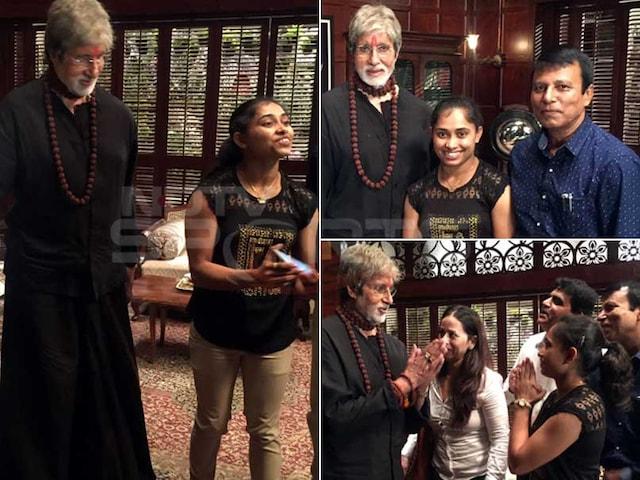 Gymnast Dipa Karmakars Fan-Girl Moment With Amitabh Bachchan