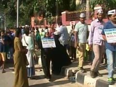 Human Chain Protest Against Steel Flyover In Bengaluru