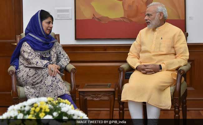 Mehbooba Mufti To Meet PM Narendra Modi Today