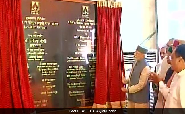 PM Narendra Modi Dedicates 3 Hydroprojects To Nation In Himachal Pradesh