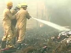 Fire Breaks Out In Delhi's Mongolpuri Oil Market