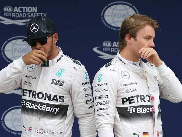 Lewis Hamilton Chasing Mercedes Teammate Nico Rosberg at US Grand Prix