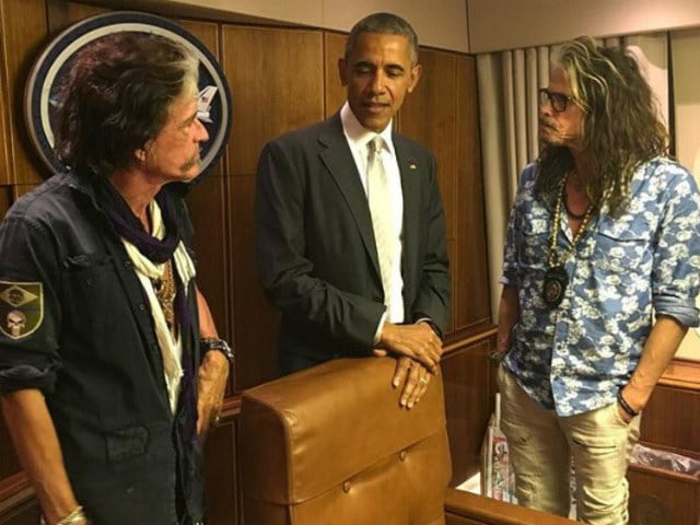 Aerosmith Gets Tour of Air Force One After Bumping Into Obama on Runway