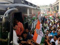 मोदी सरकार ने इंसाफ के तराजू को उठाकर फेंक दिया है :  'किसान यात्रा' की समाप्ति पर राहुल गांधी