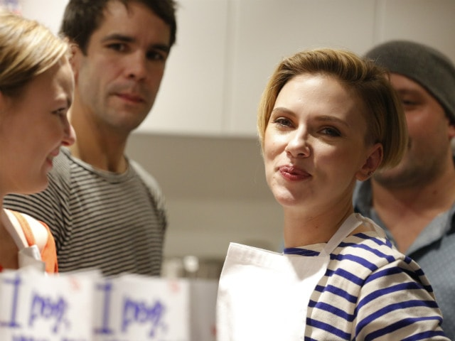Why Was Scarlett Johansson Selling Popcorn in Paris?