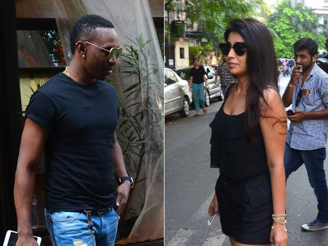Spotted: Shriya Saran And Dwayne Bravo at a Luncheon