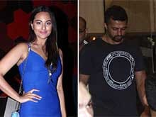 Spotted: Sonakshi Sinha With Rumoured Boyfriend Bunty Sajdeh at a Party