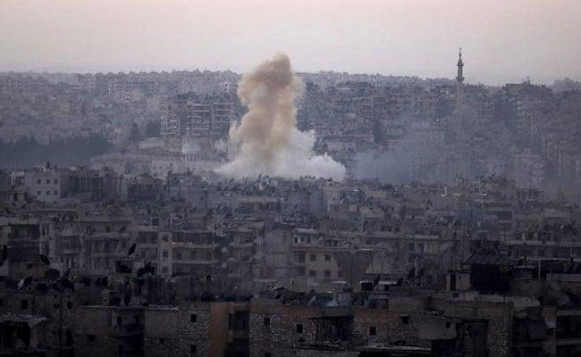 Image result for विद्रोहियों के कब्जे वाले इलाके में हवाई हमला