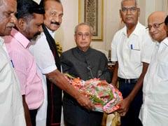 Tamil Nadu Leaders Meet President Pranab Mukherjee Over Cauvery Issue