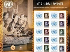 UN Issues Stamp To Honour MS Subbulakshmi
