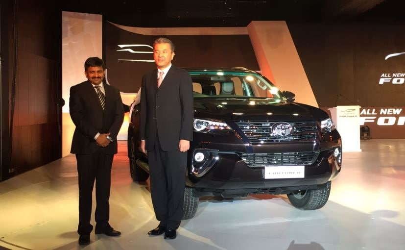 2016 Toyota Fortuner Launched In India; Prices Start At ₹ 25.92 Lakh