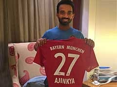 Ajinkya Rahane Exchanges Diwali Gifts With Bayern Munich's Arjen Robben