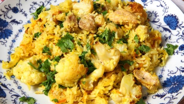 cauliflower biryani