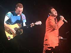 Chris Martin Sings 'Vande Mataram' With AR Rahman