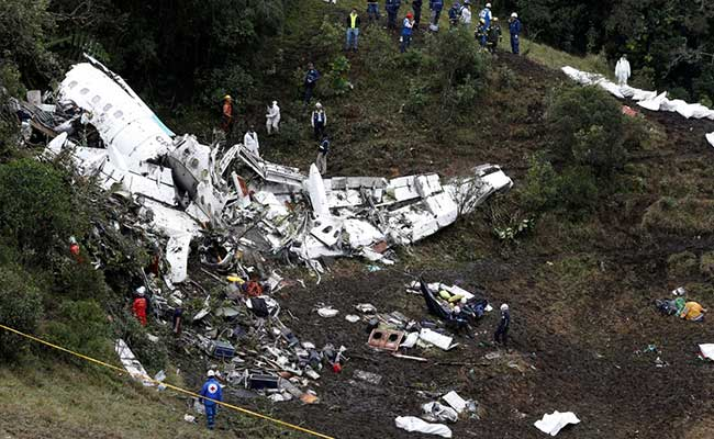 Colombia Crash Pilot Reported He Was Out Of Fuel: Report