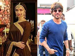 Deepika Padukone Films <i>Padmavati</i> Song, Shah Rukh Khan Drops by to Visit
