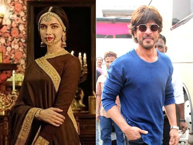 Deepika Padukone Films Padmavati Song, Shah Rukh Khan Drops by to Visit
