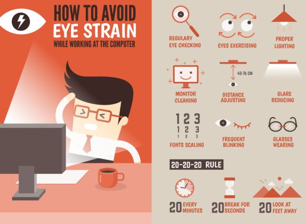 Relaxing Your Eyes : To all those people who spend a lot of time in front  of the computer, this is the perfect exercise for your eyes. This exercise  mainly ...