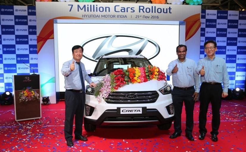 hyundai creta 7 millionth car
