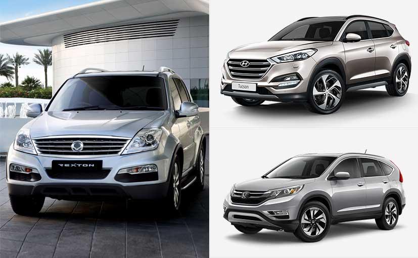 New Hyundai Tucson vs Honda CR-V vs SsangYong Rexton: Spec Comparison