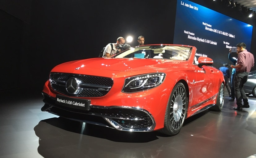 Mercedes-Maybach S 650 Cabriolet Makes Its Global Debut At 2016 LA Auto Show