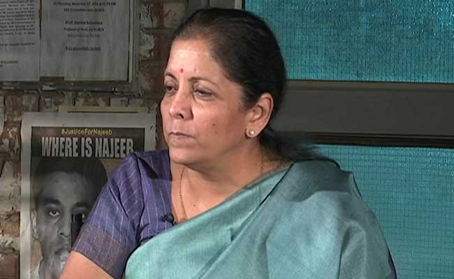 'There Is No Thrusting Of Hindi' Says Nirmala Sitharaman