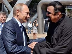 President Vladimir Putin Gives Russian Citizenship To Action Film Actor Seagal