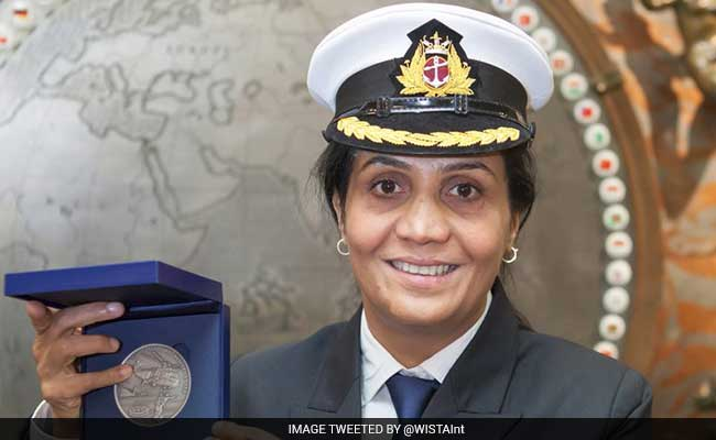 India's First Female Merchant Navy Captain Wins International Bravery Award