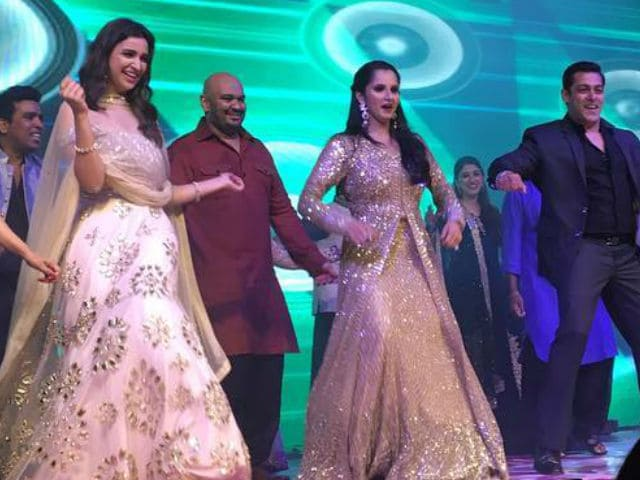 Salman Khan, Parineeti Chopra, Ram Charan At Sania Mirza's Sister's Sangeet