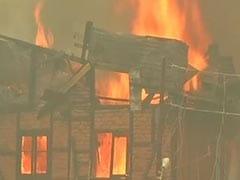 Blaze Destroys Over Dozen Houses In Srinagar