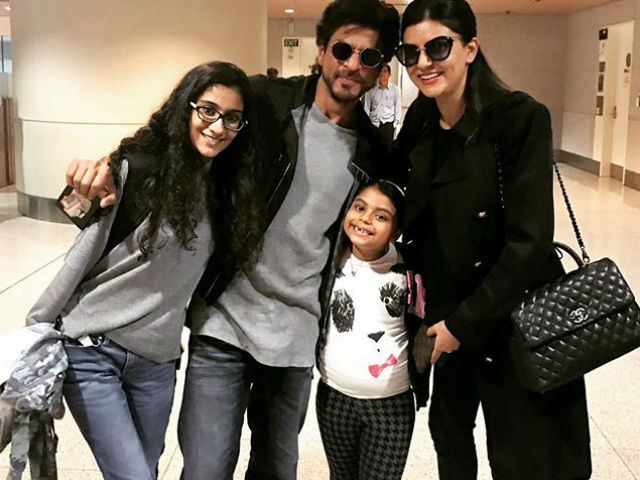 When Shah Rukh Khan Met Sushmita Sen and Daughters at the Airport