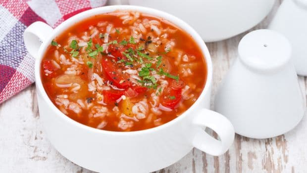 tomato and rice soup 620