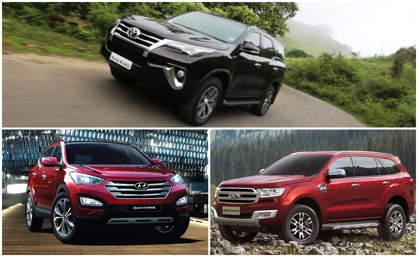 New Toyota Fortuner vs Ford Endeavour vs Hyundai Santa Fe: Spec Comparison