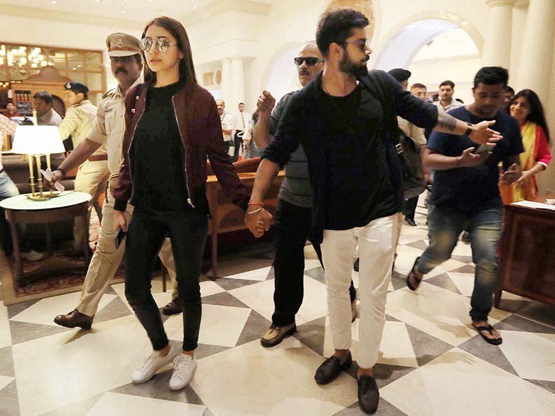 Virat Kohli Matches Steps With Anushka Sharma At Yuvraj Singh