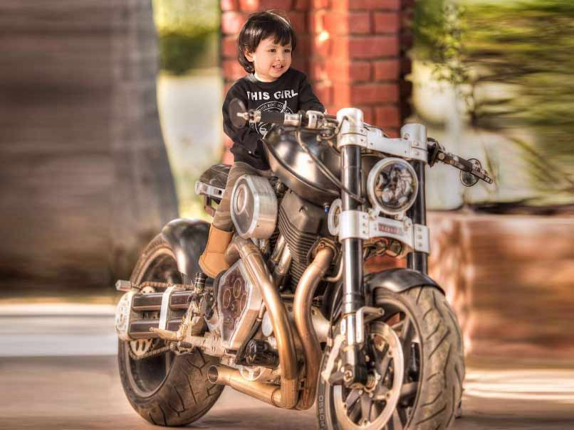 Like Father, Like Child: MS Dhoni's Daughter Ziva Pictured On Sports Bike
