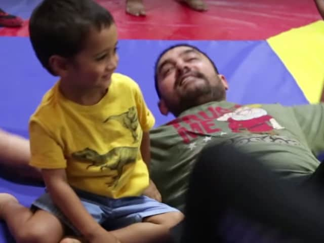 Aamir Khan's Dangal With 5-Year-Old Son Azad Is Too Cute. Watch Video
