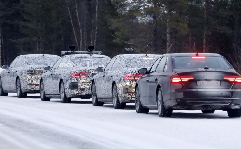 2018 audi a8. interesting audi 2018 audi a8 spotted during cold weather testing throughout audi a8