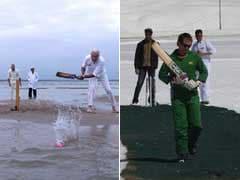टीम इंडिया की इंग्लैंड पर जीत की चर्चा के बीच क्या आपने समुद्री पानी में क्रिकेट देखा है...