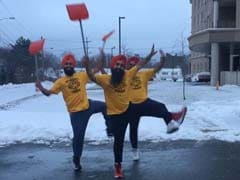 Viral: Social Media Loves This Bhangra Trio Dancing While Clearing Snow