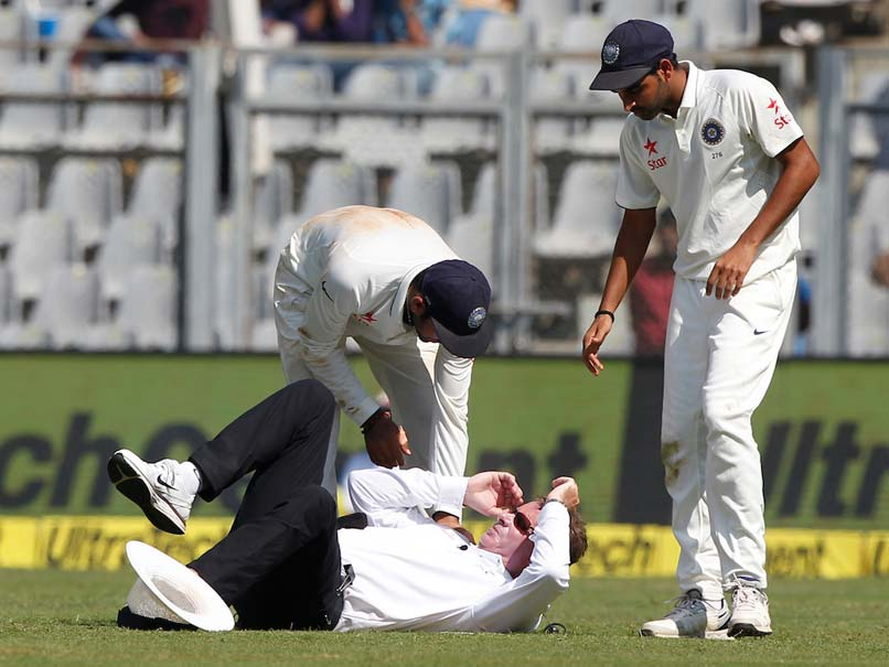 'Wicketless' Bhuvneshwar Kumar Scalps Umpire Paul Reiffel In Mumbai Test