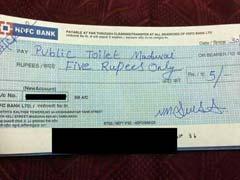 मदुरै : पब्लिक टॉयलेट का उपयोग करने के बाद चेक से किया पांच रुपये का भुगतान