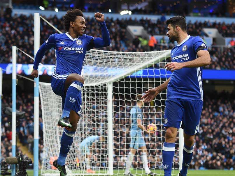 PL: Diego Costa Keeps Chelsea in Front, Manchester United Down Tottenham Hotspur