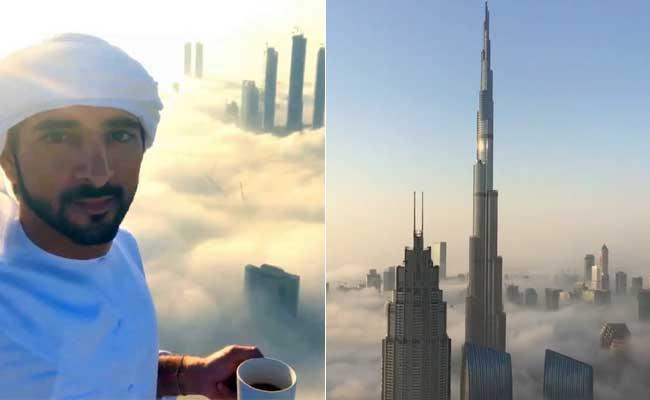 Dubai's Crown Prince Sips Coffee On Skyscraper In Stunning Skyline Video