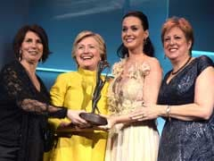 Hillary Clinton Surprises Gala For UNICEF, Katy Perry
