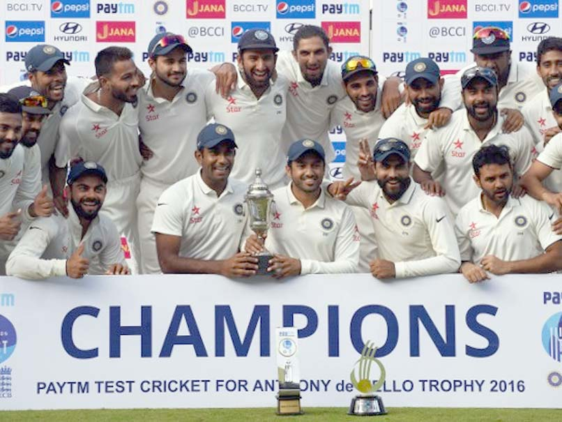 India Finish 2016 as No. 1 ICC Test Team After 4-0 Rout of England