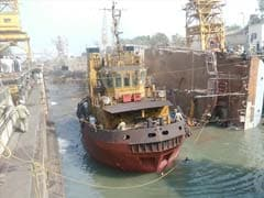 Navy Plans To Salvage Rs 600 Crore INS Betwa Which Lies On Its Side Flooded