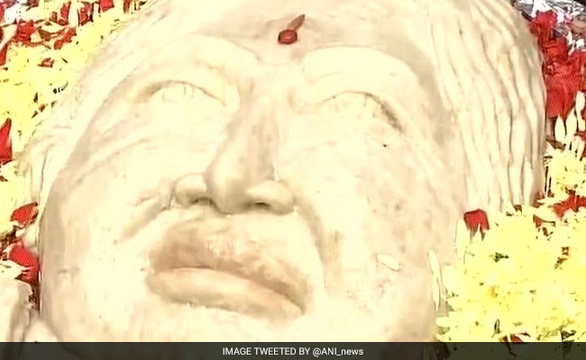 Jayalalithaa Supporters' Homage: A 68-Kilo Idli With Amma's Face