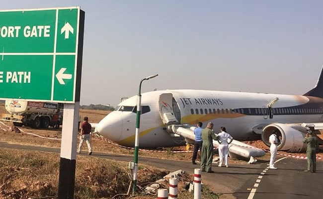 Jet Airways Flight Veers Off Goa's Dabolim Airport Runway
