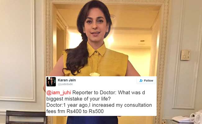 Juhi Chawla Asked Twitter For Jokes And Got These ROFL Ones