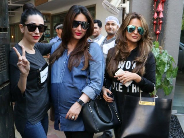 Kareena Kapoor Khan, Pregnant And Glowing, Catches Up With Karisma, Amrita